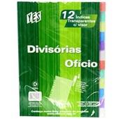 Divisória Fichário com Bolso Color 12 Projeções Colorida 23x31cm Yes
