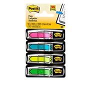 Marcador de Página Adesivo Flags Setas Neon 4 Cores 11,9 mm x 43,2 mm 96 folhas Post-it