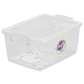 Caixa Organizadora com Travas 7,5L Cristal 32,5x23,5x15,3cm 1 UN Ordene