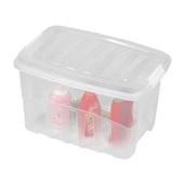 Caixa Organizadora Gran Box Alta 56L Cristal 55,5x40,3x36,5cm 1 UN Plasútil