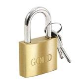 Cadeado em Latão com 2 Chaves 40mm 1 UN Gold