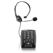 Headset com Base Discadora e Saída para Gravação Preto HST-6000 1 UN Elgin