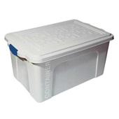 Caixa Organizadora Container 70L Branco 67x43x33,5cm 1 UN São Bernardo