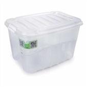 Caixa Organizadora Gran Box Alta 29L Cristal 45,7x32,6x28cm 1 UN Plasútil