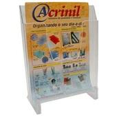 Expositor em Poliestireno Classic Premium 235x288mm Cristal 700 1 UN Acrinil