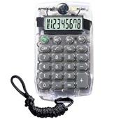 Calculadora de Bolso 8 Dígitos com Cordão Cristal PC033 1 UN Procalc