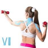 Fita Kinésio Muscle Fix Pre Cortada em Y 5m Azul HC136 1 UN Multilaser