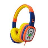 Headphone Cartoon Kids Laranja e Roxo HP302 1 UN OEX