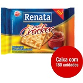 Biscoito Cream Cracker Sachê 11g CX 180 UN Renata