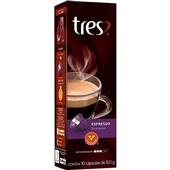 Cápsula de Café Espresso Supremo Tres 8g CX 10 UN 3 Corações