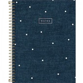 Caderno Executivo Capa Dura e Sortida 80 FL Cambridge Denim 1 UN Tilibra
