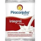 Leite em Pó Integral Instantâneo 400g Piracanjuba