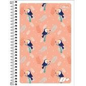 Caderno Espiral Capa Flexível 1/4 96 FL Mais Feminina D 1 UN Tilibra