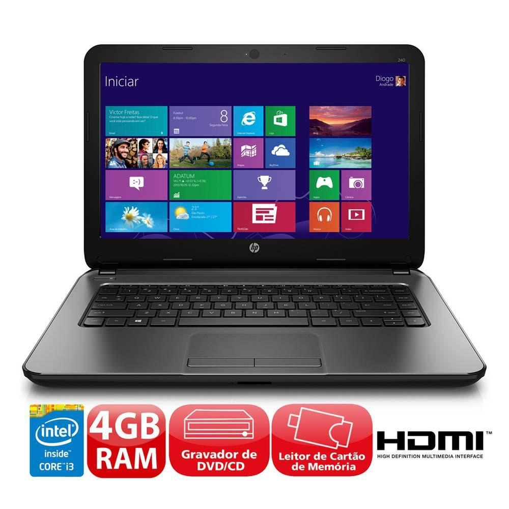 Notebook - Hp 15 R110dx I3-4005u 1.70ghz 4gb 500gb Intel Hd Graphics Windows 8 Pro 14