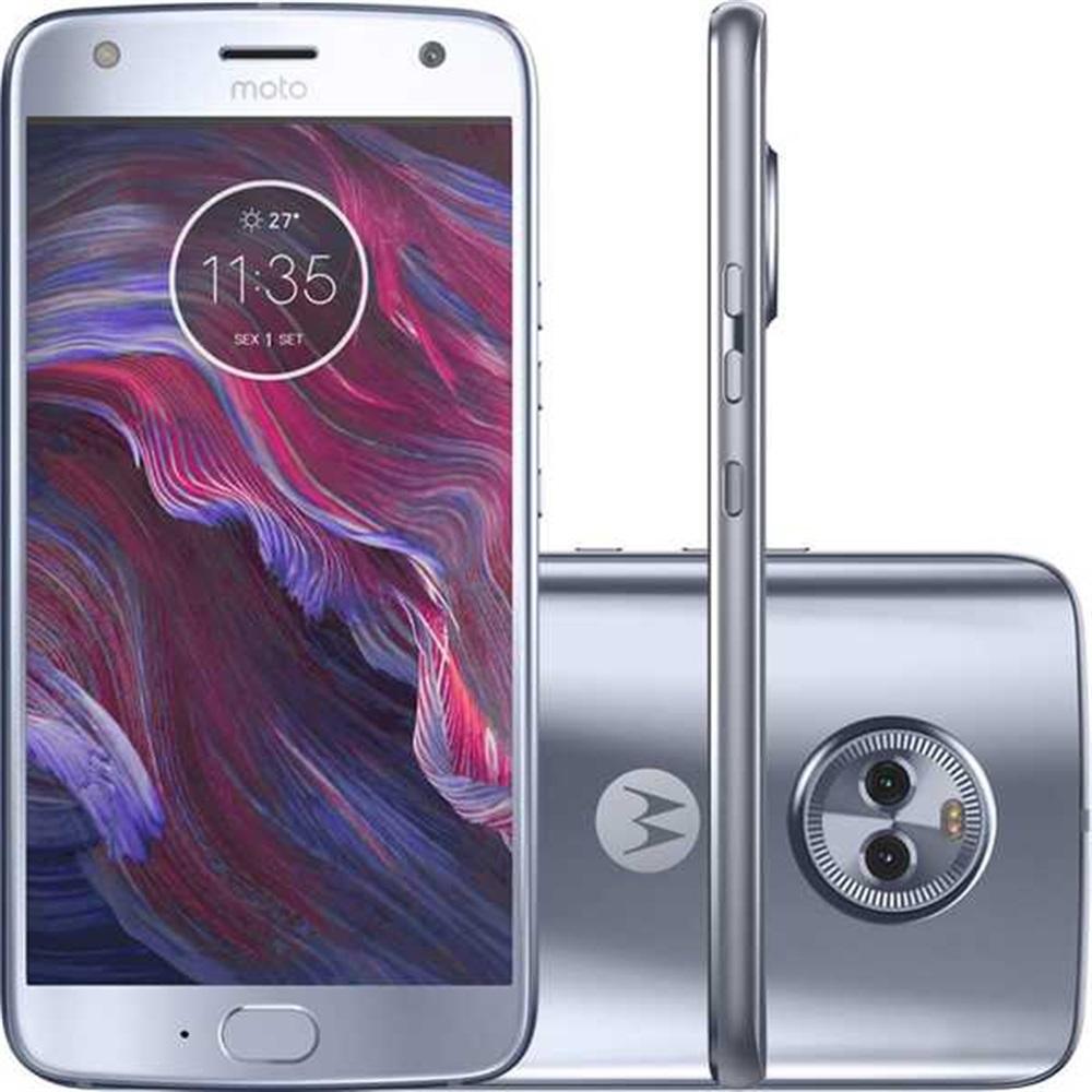 Smartphone Moto X4 5.2 Câmera 12mp Mais 8mp 32gb Octa Core Dual Chip 4g Azul Xt1900 Motorola