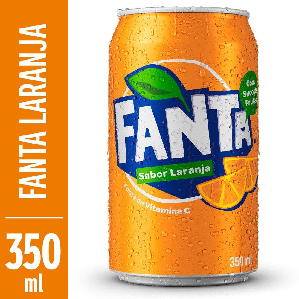 Refrigerante Fanta Laranja 350ml Lata