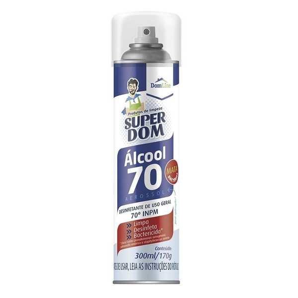 Álcool Aerossol 70% 300ml 1 UN Dom Line