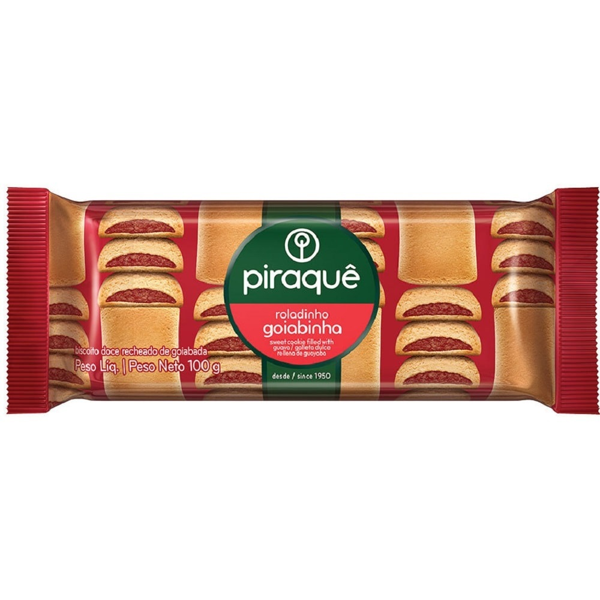 Biscoito Roladinho Goiabinha 100g 1 UN Piraquê