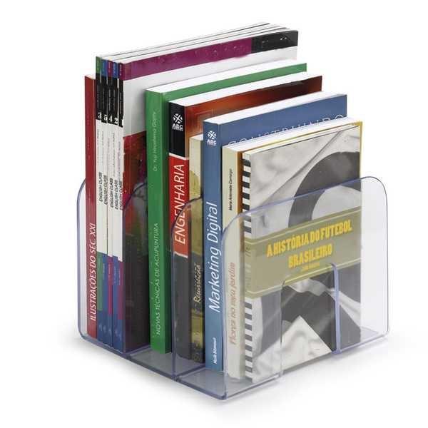 Organizador de Livros Standard 3 Divisórias Cristal 1 UN Waleu