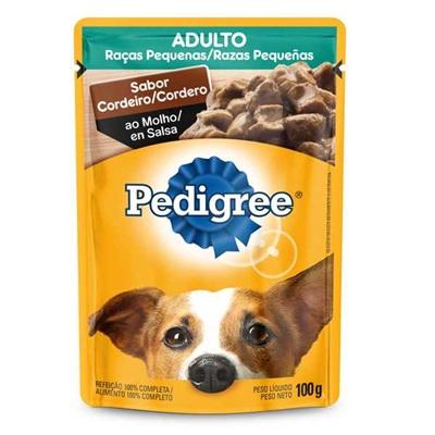 Sachê de Ração Úmida para Cães Adultos Sabor Cordeiro ao Molho 100g Pedigree