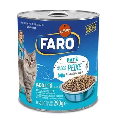 Ração Úmida para Gatos Sabor Peixe em Lata 1 UN 290g Faro