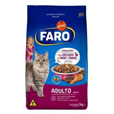 Ração para Gatos Adultos de Carne e Frango 3 Kg Faro