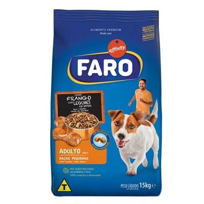 Ração para Cães Adultos Raças Pequenas Sabor Frango e Legumes 15Kg Faro