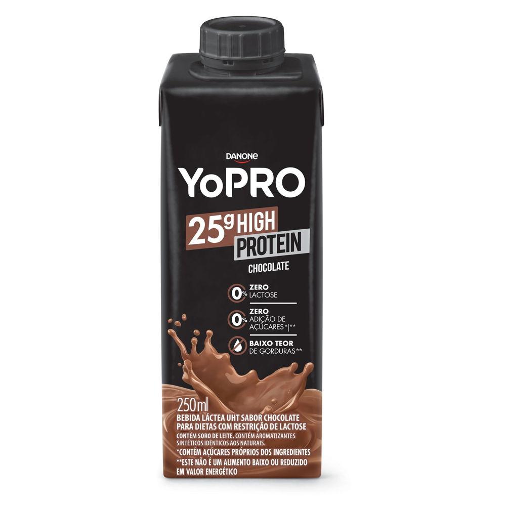 Bebida Láctea 25g High Protein Sabor Chocolate 250ml Yopro