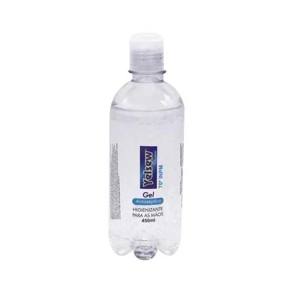 Álcool em Gel Antisséptico para Mãos 70% 450ml 1 UN Yelsew