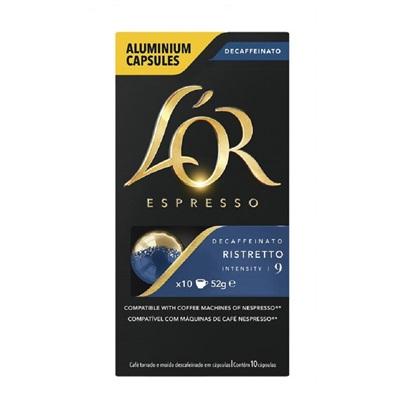 Cápsula de Café Espresso Ristretto Decaffeinato 52g CX 10 UN Lor