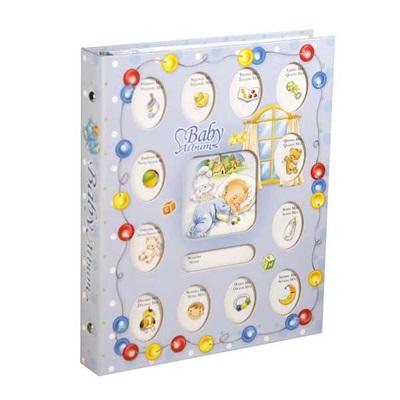 Álbum para Fotografias Baby para 80 Fotos 10x15cm Azul 1 UN Yes