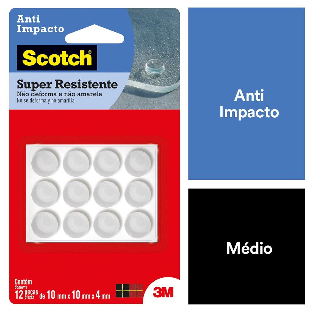 Anti Impacto Scotch Redondo Transparente Médio PT 12 UN 3M