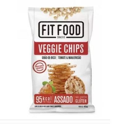 Fit Food Veggie Chips Grão de Bico sabor Tomate e Manjericão 1PT 40g Tyrrels