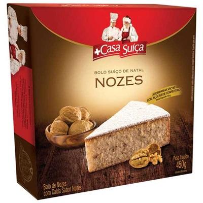 Bolo Suiço de Natal Nozes 400g Casa Suíça