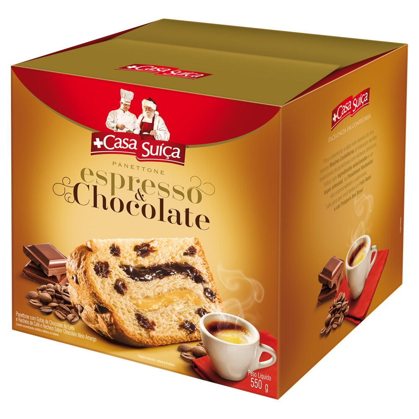 Panettone Espresso Chocolate 550g Casa Suíça
