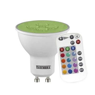 Lâmpada Led TDL RGB IR GU10 5W Bivolt 1 UN Taschibra