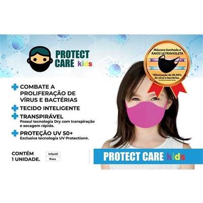 Máscara Infantil Rosa 1UN Protect Care