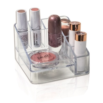 Organizador de Maquiagem e Cosméticos Protea Compacto Com 6 Divisórias Cristal 1 UN Dello