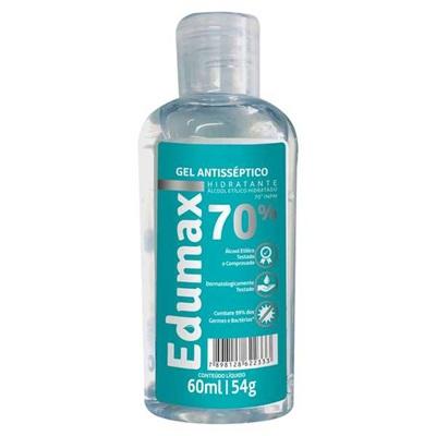 Álcool em Gel Antisséptico para Mãos 70% 60ml 1 UN Edumax