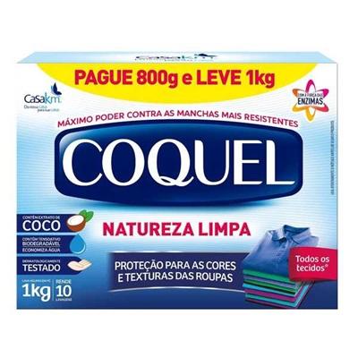 Sabão em Pó Coco Promocional Leve 1kg Pague 800g 1 UN Coquel