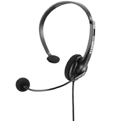 Headphone Ajustável com Microfone RJ9 Preto 42F021NSRJ00 1 UN Elgin