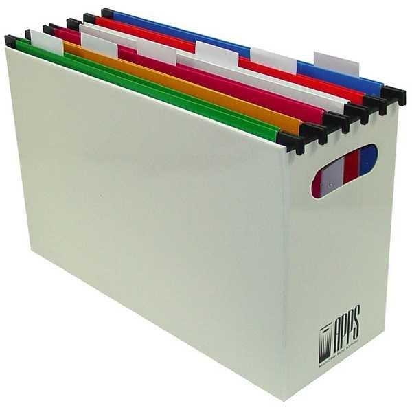 Arquivo Papelão Branco com 10 Pastas Coloridas 1 UN Apps