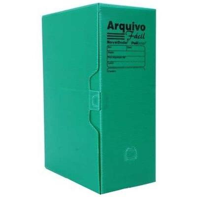 Arquivo Morto Ofício Polionda 350x245x135mm Verde 1 UN Polibras