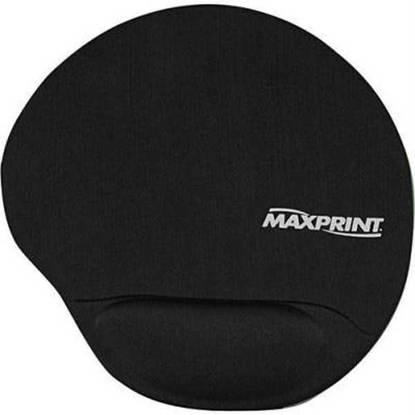 Mouse Pad Ergonômico com Apoio em Gel Preto 604484 1 UN Maxprint