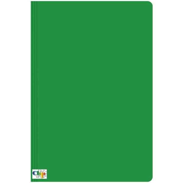 Pasta Ofício com Grampo Trilho Plástico Cartão Duplex 235x340mm Verde 1 UN Clipcolor