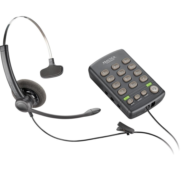Headset com Base Telefônica RJ9 Cinza T110 1 UN Plantronics