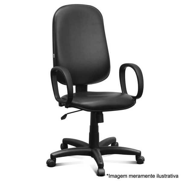 Cadeira Giratória Courvin Alta Preta 1 UN Martiflex