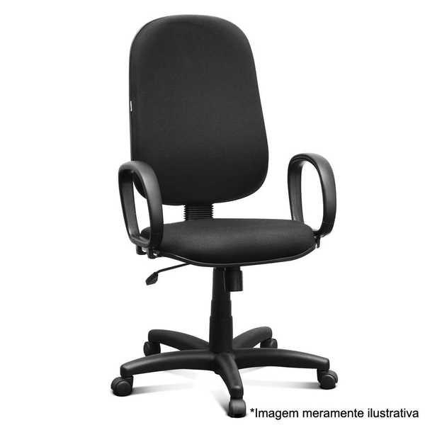 Cadeira Giratória Espaldar Alta Preta 1 UN Martiflex