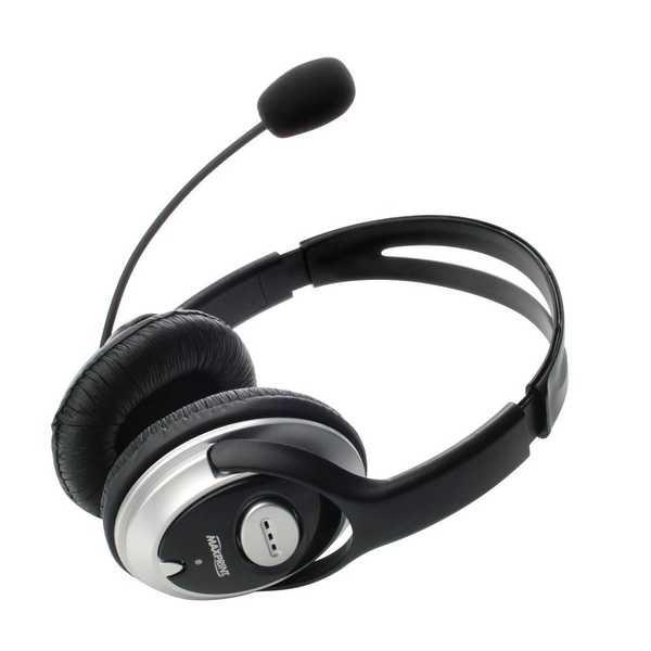 Headset com Microfone P2 Preto e Prata 602644 1 UN Maxprint
