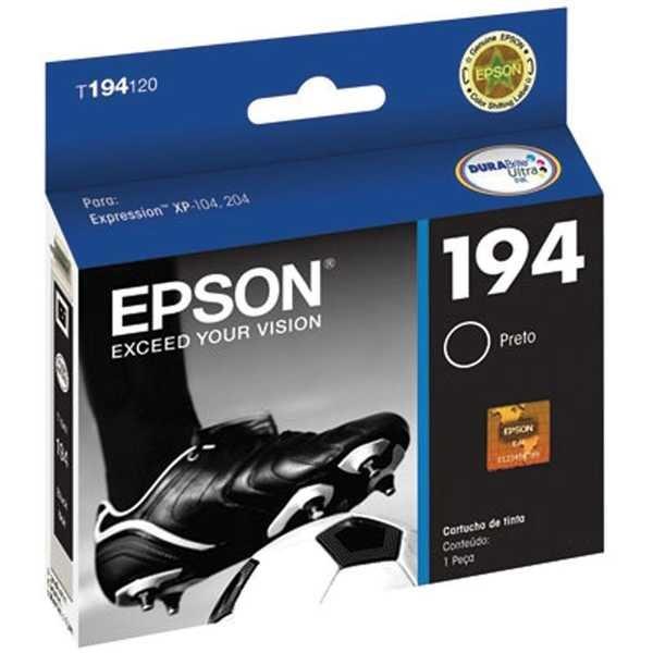Cartucho de Tinta Preto 4ml T194120 CX 1 UN Epson